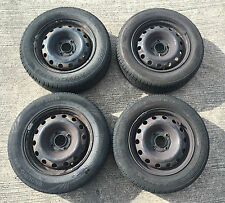 """Peugeot 206 14"""" 14 Inch Steel Wheels And Tyres - Set Of 4 185/65/14  185 65 14 r"""