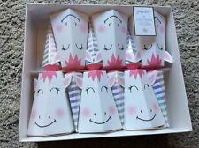 BNIB New Paperchase 6 Unicorn Crackers - Eraser Joke Hat