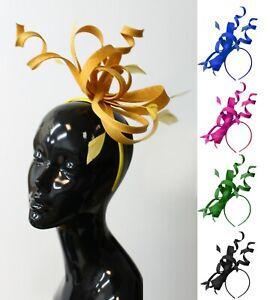 Large Swirl Loop Sinamay Headband Fascinator Weddings Ascot Hatinator Races