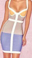 New Womans Ladies Rayon juno colour block bandage dress style size 4 6 8 10 12