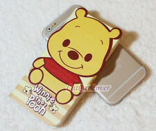 yellow Leather Disney Winnie the Pooh folder stander 3D case cover iPhone 6/6s