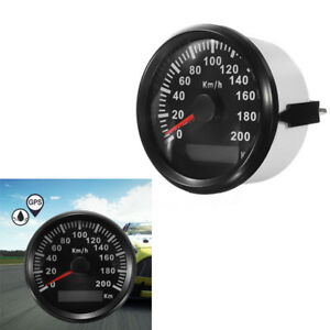 200 KM/H Auto Stainless GPS Speedometer Waterproof Digital Gauges Trim Hot