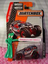 2015 Matchbox #56 Spark Blocca ∞ Nero/Grigio/Rosso 2016 MBX Heroic Rescue