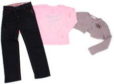 VERTBAUDET Jeans, Langarm-Shirt und H&M Strickbolero Strickjacke - 128
