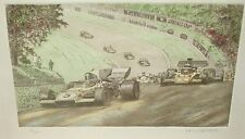 """PAUL GEYGAN """"GRAND PRIX"""" LIMITED SIGNED COLOR ETCHING"""