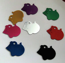 Mouse  shape pet ID  tags for cats,  personalized custom engraving, aluminum