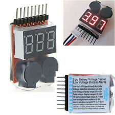 1-8s RC Lipo Battery Voltage Tester Low Voltage Buzzer Alarm Warning Indicator