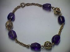 Armband in Gold 585 mit Amethyst