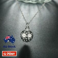Stunning 925 Sterling Silver Filled Filigree Heart Ball Necklace