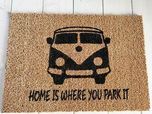 Campervan Coir Door Mat Indoor Outdoor Eco Non-slip UK Welcome Doormat