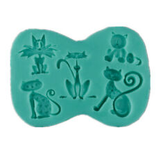 Silicone Cute Animal Cat Fondant Mold DIY Sugarcraft Candy Cake Decorating Tool