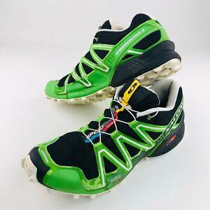 Salomon Speedcross 3 Men's Trail Running Hiking Shoes Black Green 10.5 US UK 10