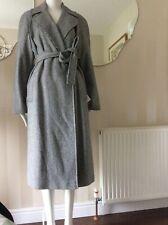 Karen Millen Oversized Black & White Dogtooth Full Length Wool Blend Coat 12 NEW