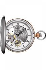Tissot BridgePort Mechanical Skeleton Steel Case Pocket Watch T859.405.29.273.00