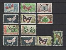 1960 papillon et culture MADAGASCAR 12 timbres / T1520
