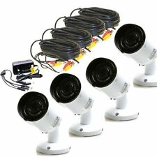 Lot 4 Home Security Surveillance Wateproof Ir Cameras Wide Angle 960P