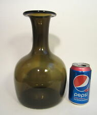 "PER LUTKEN HOLMEGAARD Mid Century MCM Art Glass HAVANNA 10.75"" Vase c. 1967"