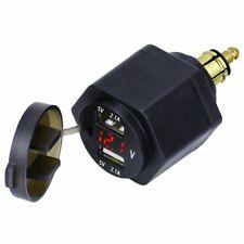 Adattatore per presa moto bmw ducati din connettore usb accendisigari voltmetro