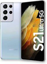 SAMSUNG GALAXY S21 ULTRA Silver SM-G998 5G Dual SIM 12+256GB Unlocked, NUOVO ITA