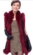 Women Real Mink Vest. Red Wine Color, SUPER FASHION
