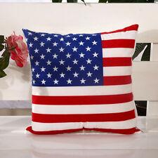 1pc Estados Unidos Bandera Algodón Funda de almohada Almohada Caso Cojin Cover