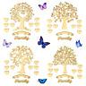 MDF Wooden Family Tree Kit Craft Shapes Ikea Ribba Box Frame Design, Family Gift