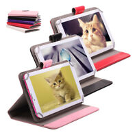 "For 9"" Tablet PC Multi-Color 9 Inch Folio PU Leather Smart Stand Case Cover"