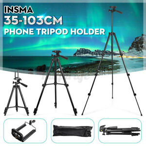 INSMA Universal Phone Tripod Stand Holder Mount For Camera Cell Phone Adjustable