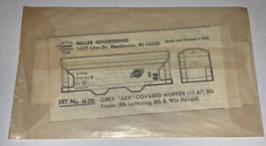 HERALD KING HO DECAL - CHICAGO & NORTH WESTERN / C&NW CENTER FLOW HOPPER #H-23
