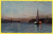 cpa TUCK Illustration G. RICARD CORDINGLEY BOULOGNE sur MER Retour de Pêche