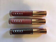 Lorac Lip Gloss 3 Different Shades  Connoisseur/Provocateur & Celberity