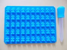 50 Cavité Mini silicone Gummy Bear Sweet Moule Chocolat et compte-gouttes #06...