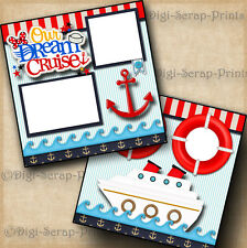 CRUISE vacation DISNEY 2 premade scrapbook pages paper piecing DIGISCRAP #A0171