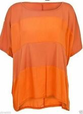 NEW TAGGED MISO (size 6 ) ORANGE TONAL STRIPE short sleeve TOP