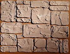 Stencil, Plaster Stencil Cottage Stone Wall Stencil, Stencils