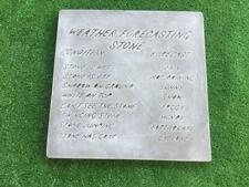 Weather Stone Plaque Sign Mould Concrete Garden Ornament Mold