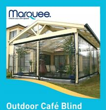 Marquee 240 x 240cm Clear Heavy Duty PVC Cafe Style Outdoor Blind Bistro Patio