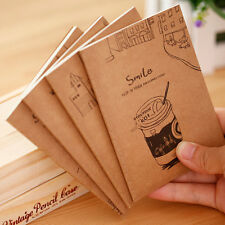 2X Retro Anime Cartoon Brown Cover Notebook Diary Jotter Student Office Useful