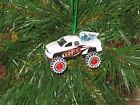 Jada 2003 Dodge Ram 1500 White Custom Christmas Ornament w/tree,snow G