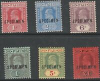 332  FIJI 1906 KE7 KEY PLATE   SPECIMEN set of 6 - about 450 produced