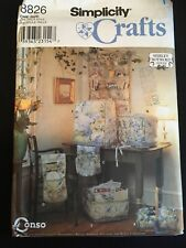 Pattern Simplicity 8826, sewing accessories, wall organizer, sewing basket etc.