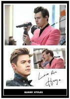 (56)  HARRY STYLES ONE DIRECTION  SIGNED   PHOTOGRAPH GREAT GIFT @@@@@@@@@@@