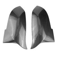 1 Pair Carbon Fiber Car Rear View Mirror Cover Cap For Bmw F20 F22 F30 F31  C6T3