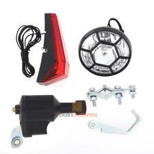 Bicycle Bike Dynamo Light Set Safety No Battery Needed Headlight Rear Lamp Light