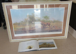 DAVID SHEPHERD VERY LARGE SIGNED LIMITED EDITION LION PRINT & BOOK (CHARITY)