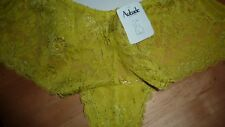 Aubade Brief UK 14 Large Lime Green Promenade Knickers Shorty Ltd Fab RARE