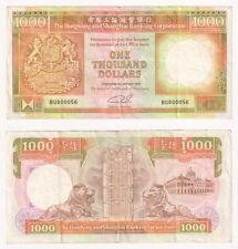 HONG KONG $1000 Dollars Banknote (1989) Pick ref: 199b - VF.