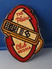 CB RADIO CLUB REGINA THE PLAINS PATCH ALBERTA VINTAGE HAT JACKET BADGE COLLECTOR