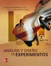 ANALISIS Y DISEÑO DE EXPERIMENTOS, POR: HUMBERTO GUTIERREZ PULIDO