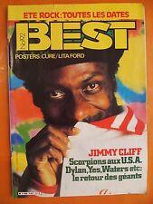 Best N° 192 du 7/1984-Jimmy Cliff-Scorpions-Dylan-Yes-Poster de Cure & Lita Ford